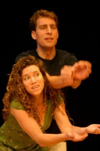 Chris Fitz and Rachel Slater play a Pair at the Centre for  Playback Theatre