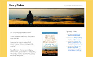 Website design for NancyBieber.com